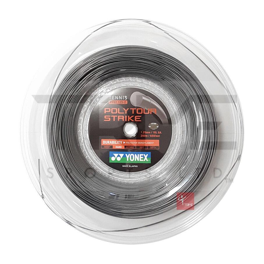 Yonex Poly Tour Strike (Iron Grey) Tennis String 200m Reel - 16L   1.25mm