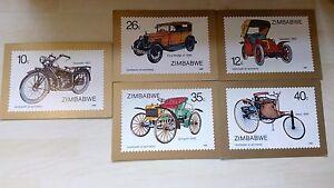 Inquiet Zimbabwe 5 Premier Jour Couvre 1886-1986 Centenary Of Motoring émis Oct 8 1986 DernièRe Mode