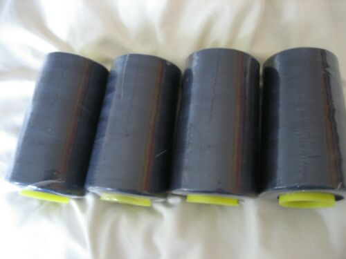 Overlocking thread cones  Spun polyester 5000 yards Navy blue