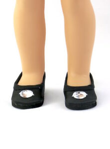 """Black Slip On Dress Shoes Fits Wellie Wishers 14.5/"""" American Girl Clothes Shoes"""