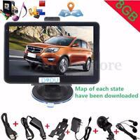 "5"" 8GB Car GPS Navigation Navigator System SAT NAV FM Touch Screen UK EU Maps"