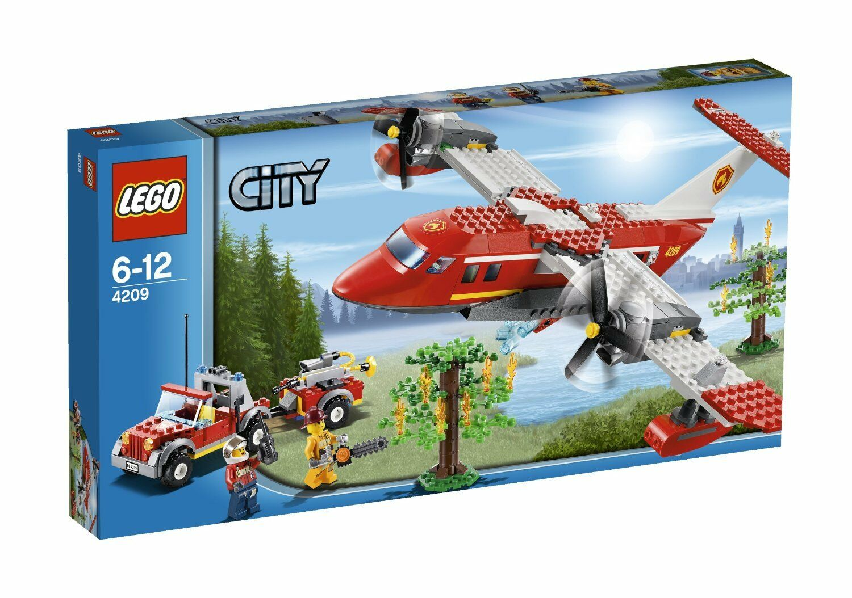 LEGO CITY 6-12 JAHRE FLUGZEUG DER FEUERWEHR FIRE FLUGZEUG ART 4209 SEHR SELTENE