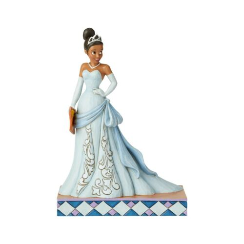 JIM SHORE DISNEY Figurine PRINCESS TIANA AND THE FROG Statue BLUE DRESS WAITRESS
