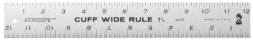 """Fairgate Fashion Designer 1 3//4 cuff width marking rule,12/"""" x 1 3//4/"""" cuff width"""
