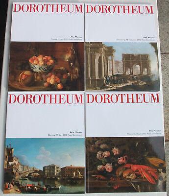 4 X Alte Meister Kataloge Dorotheum 06/2012+12/2012+06/2013+06/2015, Sehr Gute Hohe QualitäT Und Preiswert