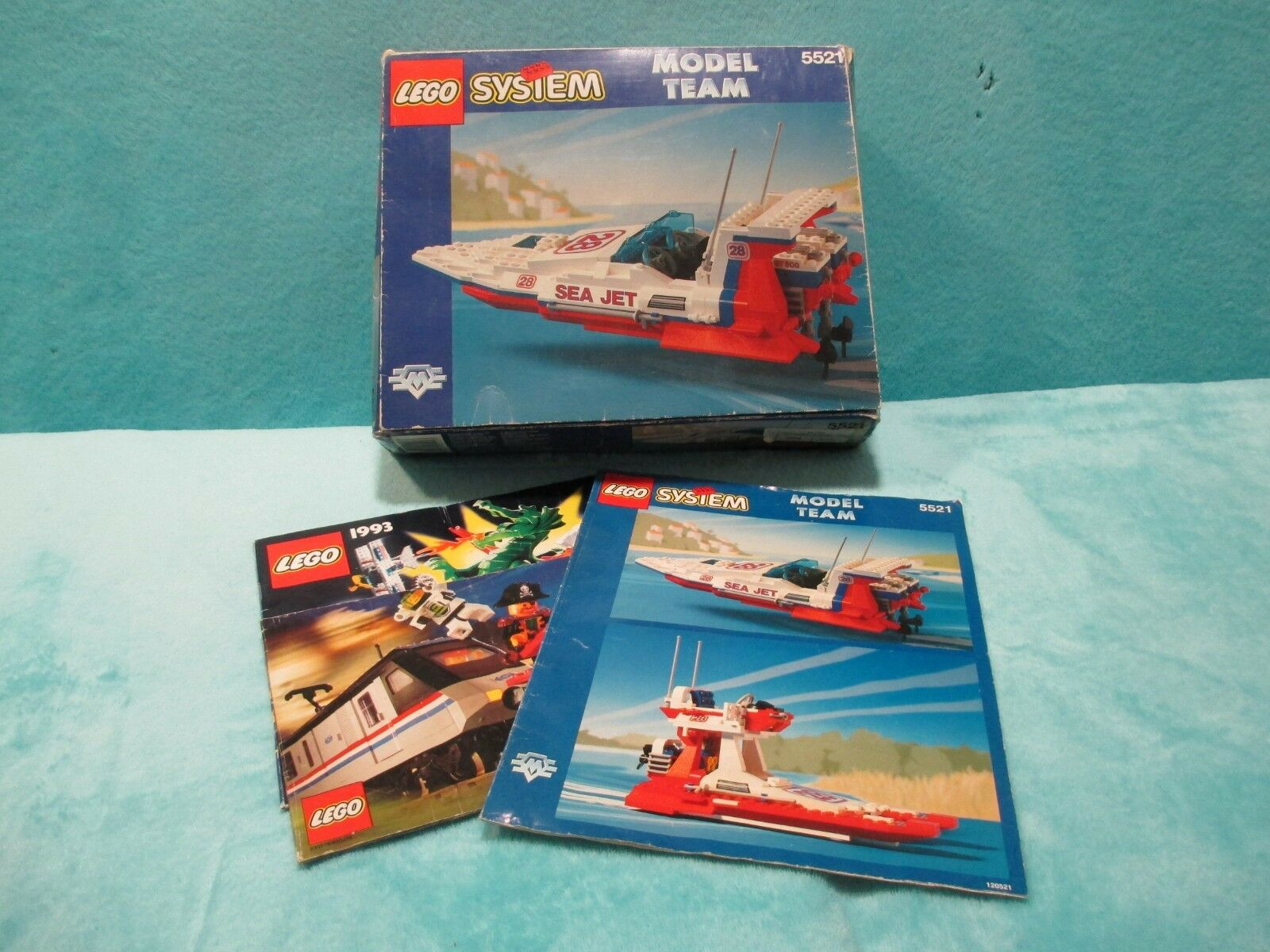BOXED LEGO System Model Team Set 5521 Sea Jet Boat W  Instructions - XMAS GIFT