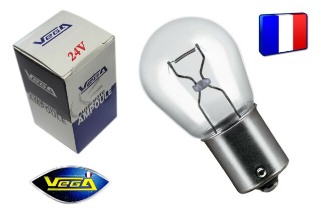 """1 Ampoule Vega® """"Maxi"""" P21W BA15S 12498 Position Arrière Stop Recul Frein 24V"""