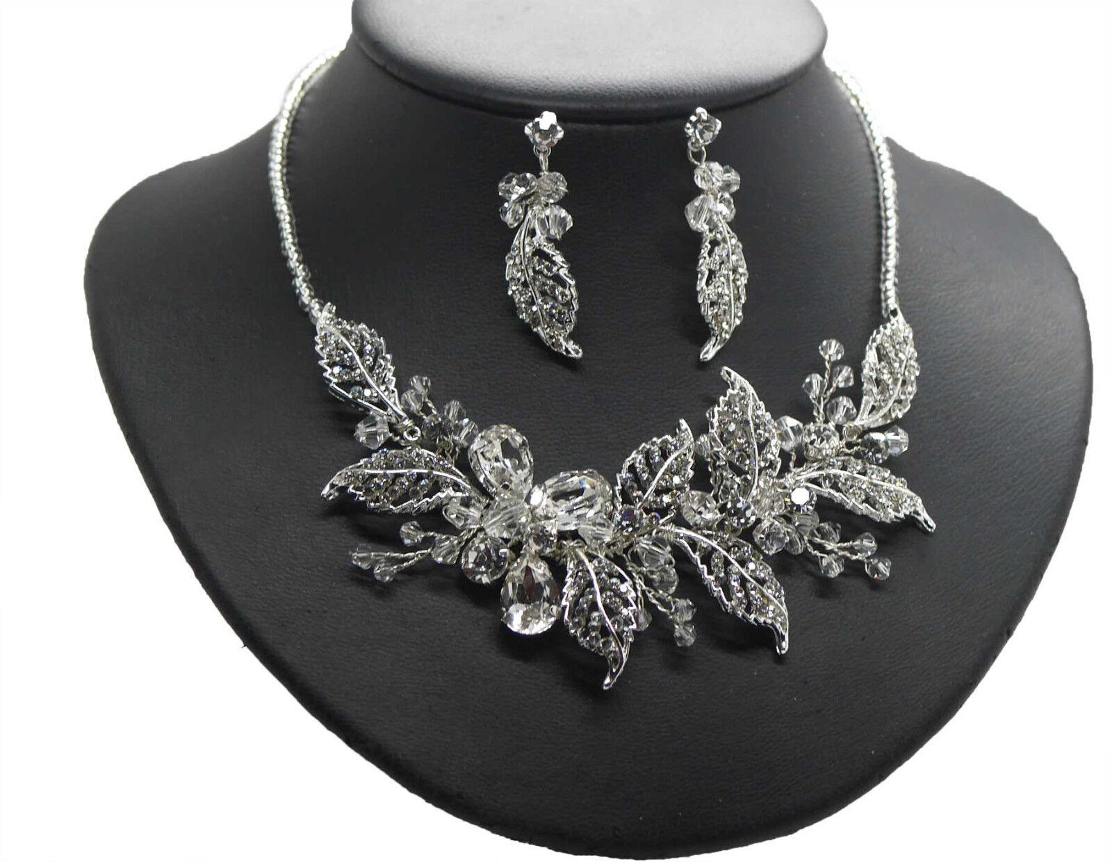 Joyas de novia también como set cristal cristal cristal Swarovski elegante statement Achberger 7dd92e