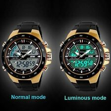 2017 Skmei Analogue & Digital Dual time LED Sport Wrist Watch For Men & Boys !!!