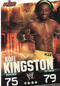 Kofi Kingston Raw Card Official WWE Slam Attax