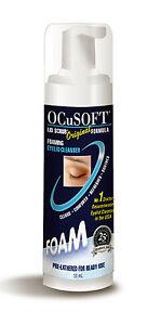 Ocusoft-ORIGINALE-50-ml-EYE-Coperchio-Schiuma-Pulizia-Make-Up-Remover-palpebra-Igiene