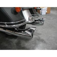 """Chrome Vintage 32""""  Fishtail Mufflers for Harley Touring 96-2016"""