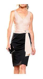 NEU-mit-Etikett-Abendkleid-von-APART-schwarz-puder-Gr-32