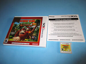 Donkey-Kong-Country-Returns-Nintendo-3DS-XL-2DS-Game-w-Case-amp-Insert