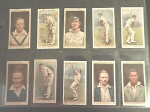 1928 Wills CRICKETERS cricket 50 card set Tobacco Cigarette cards complete lot