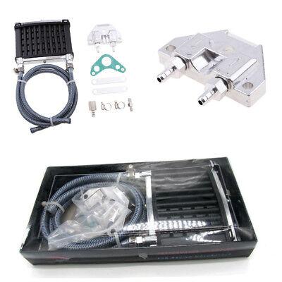 Universal Motor /& Dirtbike /& Pit Bike Oil Cooler Cooling Radiator 120*97mm Black