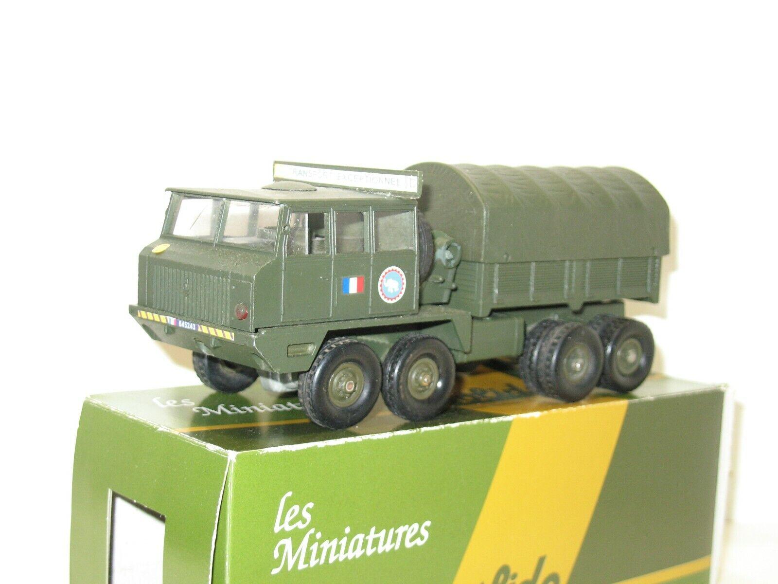 SOLIDO, Camion  berliet T 12 pousseur de convoi exeptionnel militaire  en bonne santé