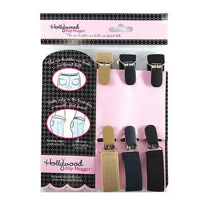 Hollywood Fashion Secrets Hip Hugger - 3 Belts Pack - 1 Size Fits Most