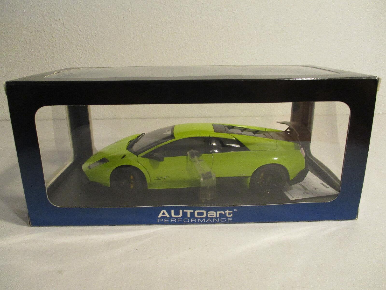 (Modelage) 1 18 Autoart Lamborghini Murcielago lp670-4 Sv vert SANDA L vert Nouveau neuf dans sa boîte