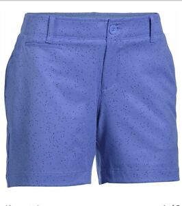 Under-Armour-Golf-Shorts-sz-0-Purple-Links-Printed-Shorty-NEW