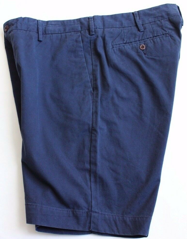 Polo Ralph Lauren Classic Shorts 40 Flat 9 In bluee  NWT Casual Pima Cotton