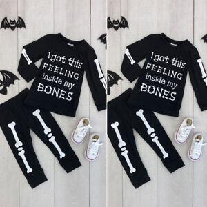 2PCS-Toddler-Baby-Kids-Boy-Halloween-Clothes-T-shirt-Tops-Long-Pants-Outfit-Set