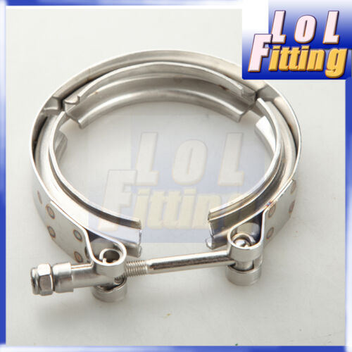 "3/"" V-Band Vband Clamp Aluminum Flange Flanges Turbo Intercooler Piping Kit"