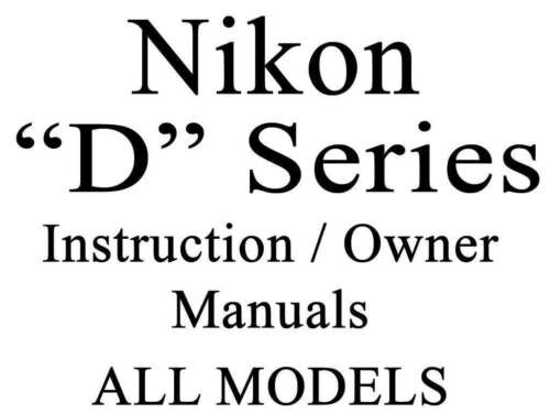Nikon D User Guide Instruction Operator Users Manual Group 2 of 2