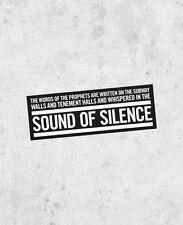 "Simon & Garfunkel ""The Sound of Silence"" Sticker, bridge over troubled water"