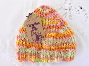 e3a69971fad 100% Ultra Fine Merino Wool Hand Spun   Dyed   Knitted Baby Beanie ...
