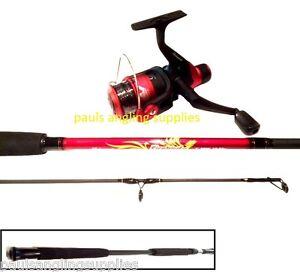 shakespeare firebird 2 1m red black spinning fishing rod reel