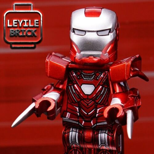 ⎡LEYILE BRICK⎦Custom Iron Man Tony Stark Armor Mark 33 Lego Minifigure