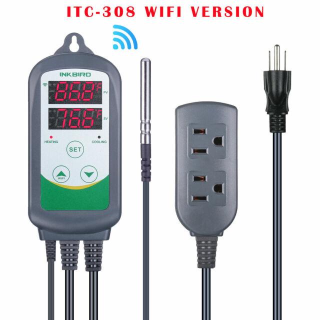 Inkbird ITC-308 wifi APP digital Temperature Controller heat & cool Thermostat