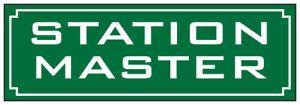 Station-Master-Smaltato-Targa-da-Parete-in-Acciaio-240mm-x-80mm-Dp