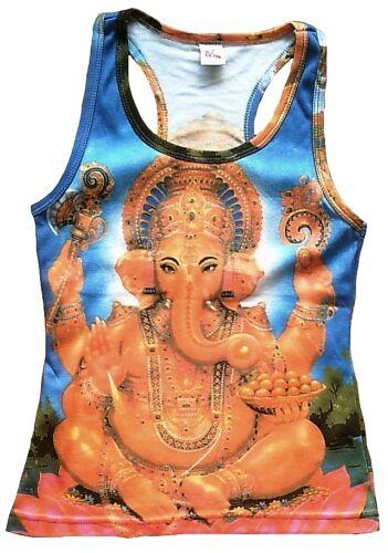 Lord Ganesh Hindou Bhakti Mantra Statue Tattoo Art Vip Débardeur T-Shirt S//M