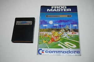 Frog-Master-Commodore-64-C64-Computer-Video-Game-Cart-w-Manual