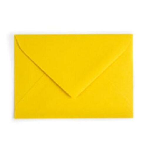 Invitation Letter Mailing Envelopes Gummed Closures YELLOW  8X5.5 quantity 100