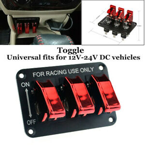 on -off- on 12v 20A Universal Red illuminated Electric Window Switch