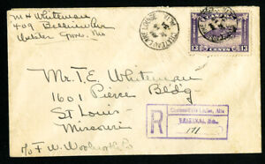 Canada-Stamps-201-Registered-Cover-w-8x-Backstamps-Unusual-Well-Travelled-Cover