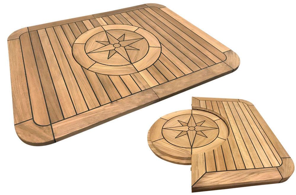 Marine Teak Table - FOLDING  - Marine - Boat - Folding - Fold - NEW
