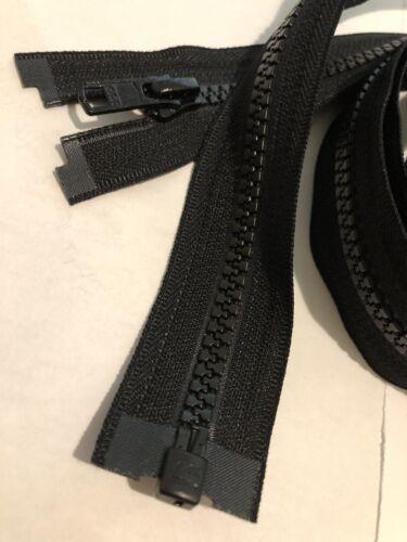 100 INCHE LONG ARM QUILTING YKK ZIPPER VISLON MOLDED PLASTIC NO5 OPEN END BLACK