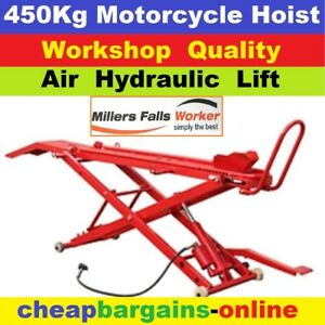 Motorcycle Lift Motorbike Hoist Table Lifter Bike Stand 450kg Air