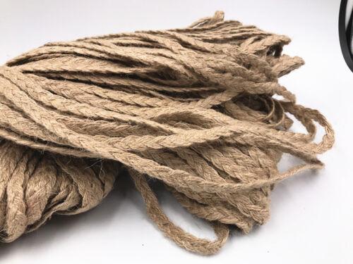 Natural Arpillera blanca Yute Twine Cuerda 5M//100m Cinta De Arpillera Vintage Decoración 5mm Craft