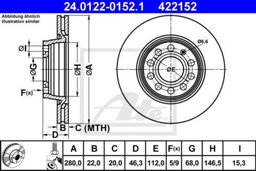 Garnitures de freins complet set avant audi seat 3394509 2x Unités antithrombine Disques De Frein