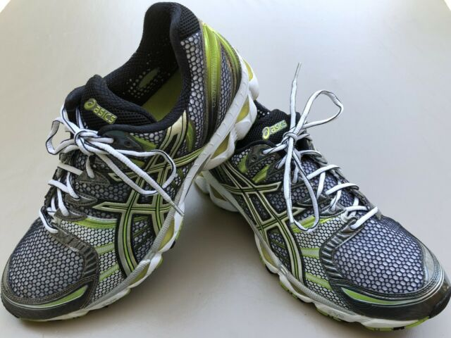 Men's ASICS Gel Nimbus 12 Size 12M Running Shoes Green Gray Black T045N