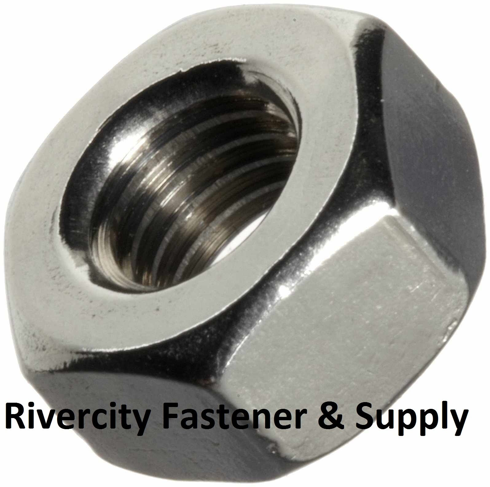 10 M10-1.5 Metric Coarse Thread Hex Nut A4 Stainless Steel 10mm With 17mm Hex