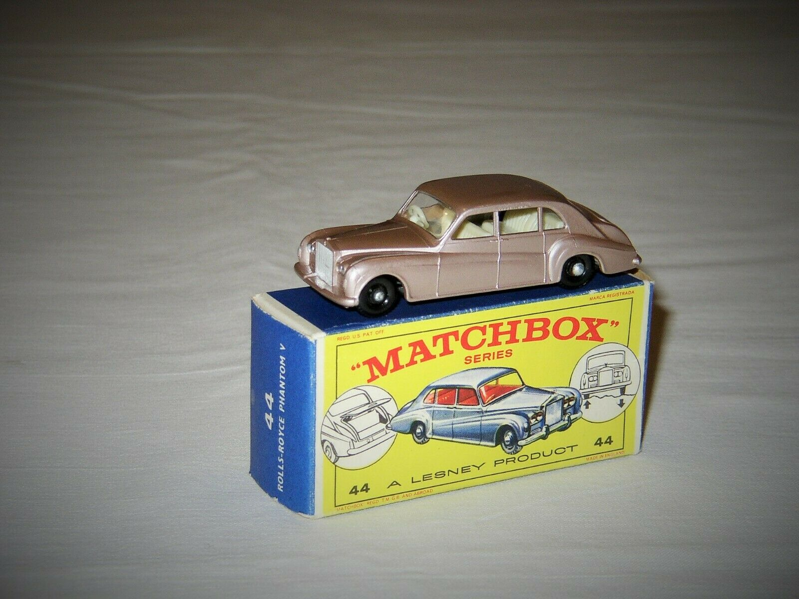 Vintage Lesney Matchbox b Rolls Royce Phantom V-Box and-BPW KT-MINT-NMINT