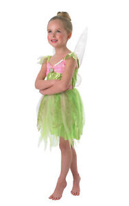 Rubie's Official Disney, Tinkerbell Fairy Girls Costume with Light Up Wings