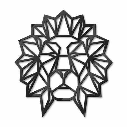 Acryldeko origami cabeza león negros dekoelemente adhesivos farbintensiv animales