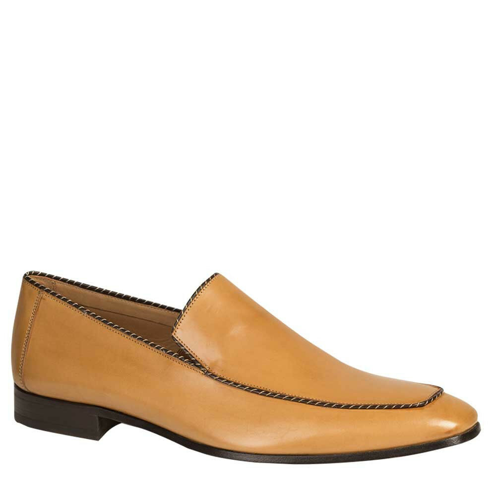 nuovo Mezlan Genuine Leather Premium Lightweight Dress Slip On sautope Bret Camel Sautope classeiche da uomo